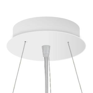 Tříbodový lankový závěs se stropní krytkou a transparentním kabelem 5x0,75