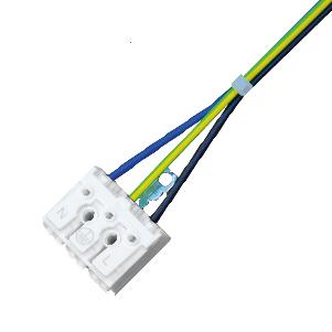 Průběžné zapojení 1 fázové 3x2,5mm - L, N, PE (1 bm)
