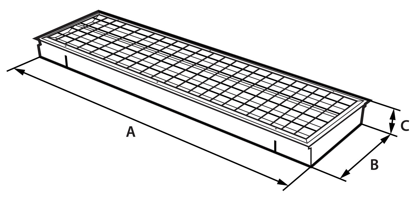 Polar diagram of LED luminaire VBO SPORT